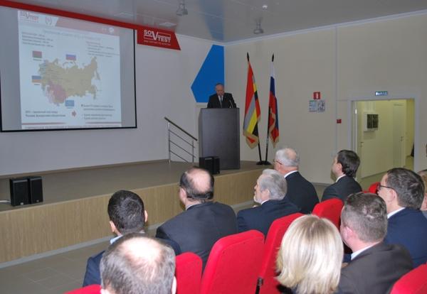 Во время презентации Игорь Марков рассказал о деятельности предприятия и о планах развития на ближайшие годы