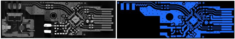 Пример воссоздания топологии слоя платы после проведения ламинографии